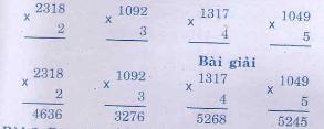 Giải bài tập trang 115, 116 SGK Toán 3