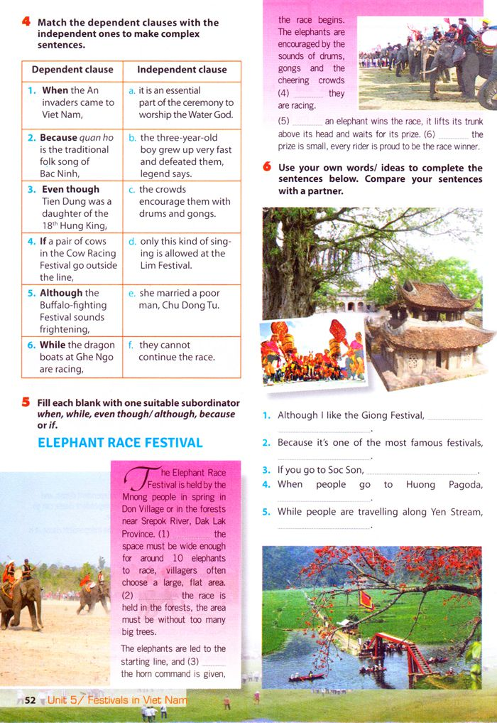Giải thí điểm 8 Unit 5 - Festivals of Viet Nam - Getting Started