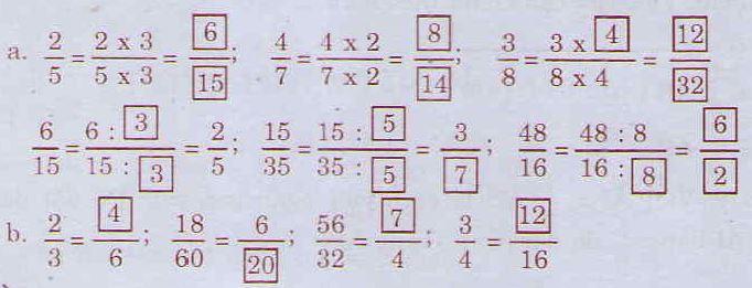 Giải bài tập trang 112 SGK Toán 4: Phân số bằng nhau