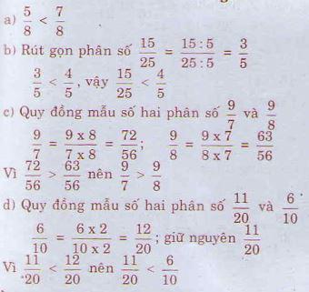 Giải bài tập trang 122 SGK Toán 4
