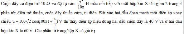 Đề thi thử THPTQG môn Vật lý