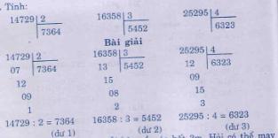 Giải bài tập trang 163, 164 SGK Toán 3
