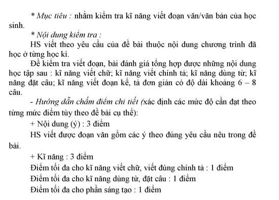 Hướng dẫn ra đề thi học kì 2 môn Tiếng Việt lớp 2, 3