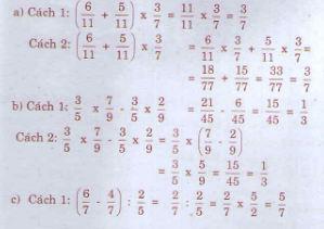 Giải bài tập trang 169 SGK Toán 4