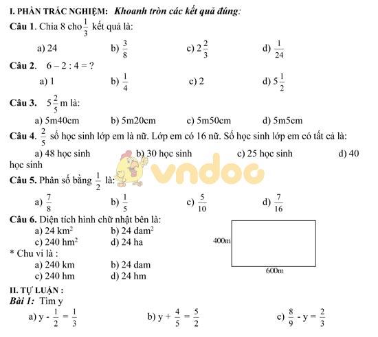 Bài tập cuối tuần lớp 5