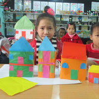 Giáo án lớp lá (5 - 6 tuổi): Bé cắt dán ngôi nhà