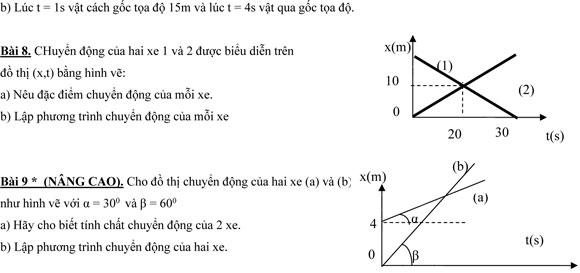 bài tập vật lý lớp 10