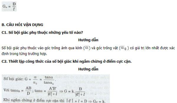 Giải bài tập trang 208 SGK Vật lý lớp 11