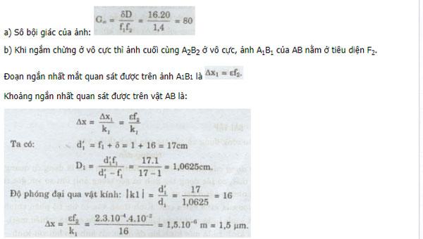 Câu hỏi bài tập môn Vật lý lớp 11 có đáp án