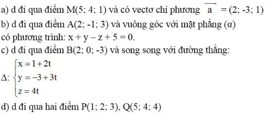 Giải bài tập Toán 12 chương 3 bài 3