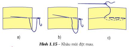Giải bài tập SGK Công nghệ lớp 6 bài 5: Ôn một số mũi khâu cơ bản