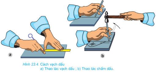 Giải bài tập SGK Công nghệ lớp 8 bài 23: Thực hành: Đo và vạch dấu