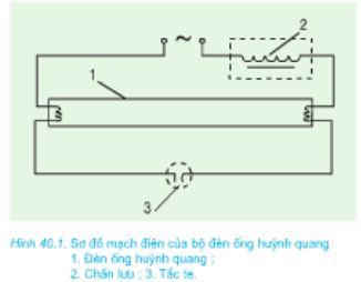 Giải bài tập SGK Công nghệ lớp 8 bài 40: Thực hành: Đèn ống huỳnh quang