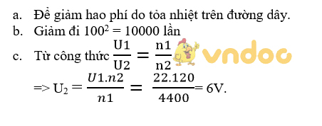Giải bài tập SGK Vật lý lớp 9 bài 39: Tổng kết chương II : Điện từ học