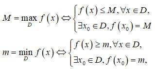 Giá trị lớn nhất và giá trị nhỏ nhất của hàm số