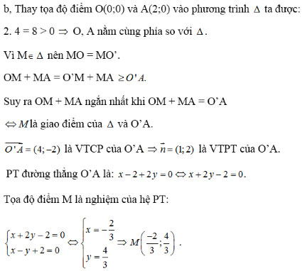 Giải bài tập Hình học 10 ôn tập chương 3