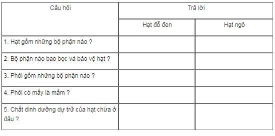 bài tập sinh học 6