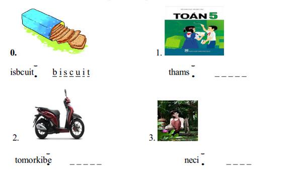 Đề thi học kì 1 môn tiếng Anh 5
