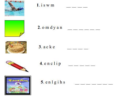 Đề kiểm tra môn tiếng Anh học kì 1 lớp 4