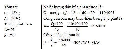 Giải bài tập SBT Vật lý lớp 8 bài 24: Công thức tính nhiệt lượng