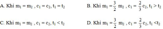 Giải bài tập SBT Vật lý lớp 8 Bài 25: Phương trình cân bằng nhiệt