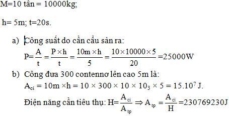 Giải bài tập SBT Vật lý lớp 8 bài 15: Công suất