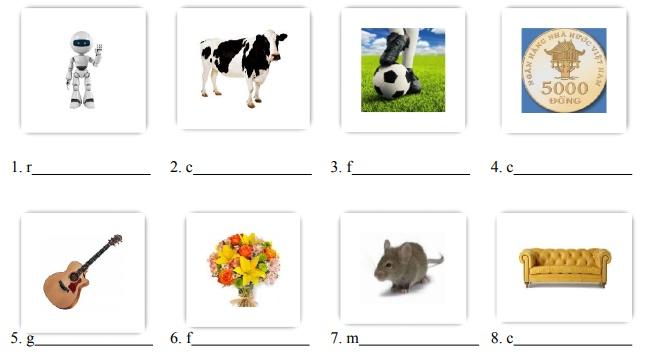 Bài tập trắc nghiệm tiếng Anh lớp 6