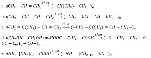 Giải bài tập Hóa học 12 bài 13: Đại cương về polime