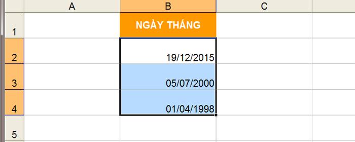 Hướng dẫn sửa ngày tháng bị đảo lộn trong Excel