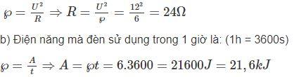 Giải bài tập SBT Vật lý lớp 9 bài 13: Điện năng - Công của dòng điện