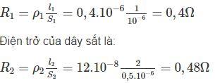 Giải bài tập SBT Vật lý lớp 9 bài 16 - 17: Định luật Jun - Len-xơ. Bài tập vận dụng định luật Jun - Len-xơ