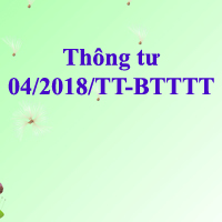Thông tư 04/2018/TT-BTTTT
