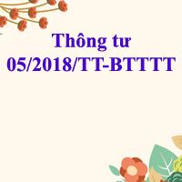 Thông tư 05/2018/TT-BTTTT