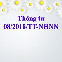 Thông tư 08/2018/TT-NHNN