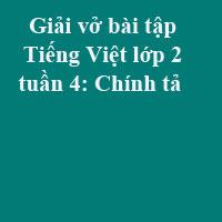 Giải vở bài tập Tiếng Việt lớp 2 tập 1 tuần 4: Chính tả