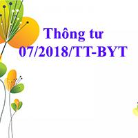 Thông tư 07/2018/TT-BYT