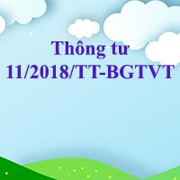 Thông tư 11/2018/TT-BGTVT