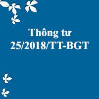 Thông tư 25/2018/TT-BGTVT