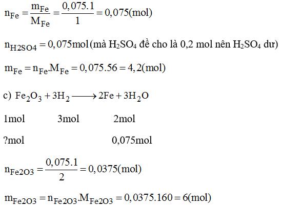 Giải bài tập SBT Hóa học lớp 8 bài 33: Điều chế khí Hidro - Phản ứng thế