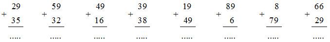 Giải vở bài tập Toán 2 bài 16: 49 + 25