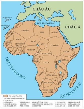 Lý thuyết Lịch sử 12 bài 5: Các nước Châu Phi và Mĩ La-tinh