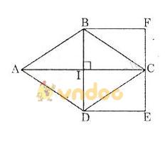 Giải bài tập SGK Toán lớp 8 bài 5: Diện tích hình thoi