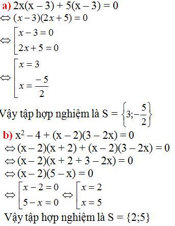 Giải bài tập SGK Toán lớp 8 bài 4: Phương trình tích