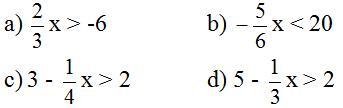 Giải bài tập SGK Toán lớp 8 bài 4: Bất phương trình bậc nhất một ẩn