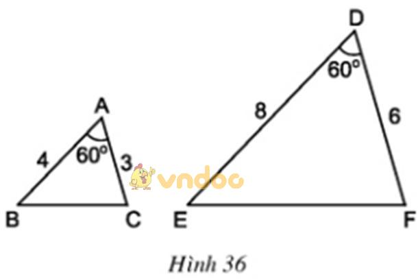 Giải bài tập SGK Toán lớp 8 bài 6: Trường hợp đồng dạng thứ hai