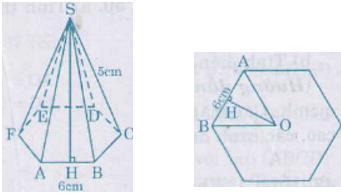 Giải bài tập SGK Toán lớp 8 bài 9: Thể tích của hình chóp đều