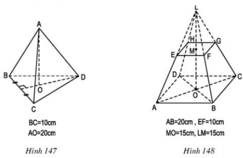 Giải bài tập SGK Toán lớp 8 bài: Ôn tập chương IV - Hình lăng trụ đứng. Hình chóp đều