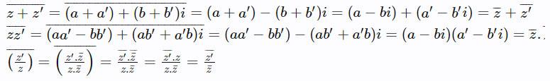Định nghĩa và các phép toán số phức