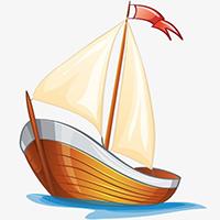 Tranh tô màu tàu thuyền