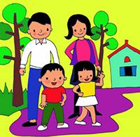 Tranh tô màu gia đình